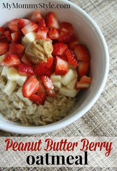 Peanut Butter Berry Oatmeal, healthy breakfast, food, recipes, #healthybreakfast #oatmeal mymommystyle.com