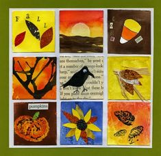 square collage for fall...