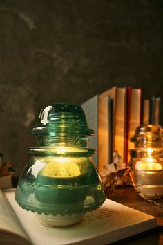 glass insulators turned into lamps#Repin By:Pinterest++ for iPad#