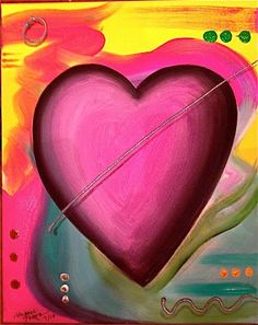 """Guard Your Heart"" Pop Heart Commission ©2012 Pop Artist Michael Perez"