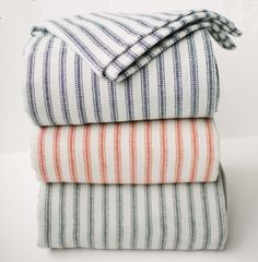 Faribault Ticking Stripe Blanket #accessories #american-made #blankets #gift #home #housewarming-gifts #made-in-usa #wedding-gifts