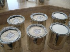 Dry pack canning using new paint cans. Less heavy than 5 gallon buckets and easier to store in apartments. woo!
