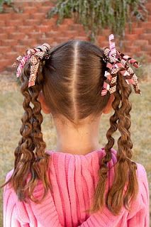 Style when wet by creating corkscrews, and then twist into a Hawser braid.  Let hair dry and then remove braid and corkscrews.