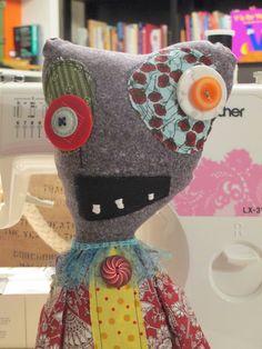 Stuffed Rag Art Monster Zombie Doll Nancy by fiddleheadsandchaos, $55.00