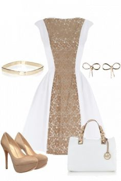winter white and gold