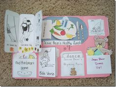 More activities. Jesse Bear printables for clothes.