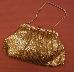 L'oiseau Acessórios Vintage: Bolsa Dourada Vintage Anos 60