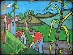 Mural in La Palma, El Salvador. Photo by http://travellersoul76.com #art