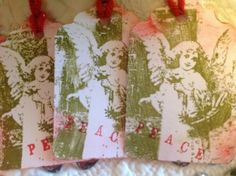 Handstamped tags Set of 6 by SimpleSouthernSass on Etsy, $6.95