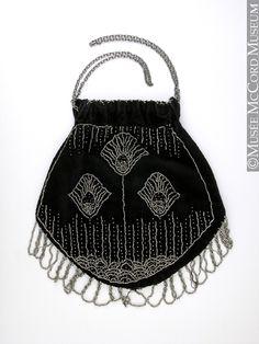 Beaded Evening Bag: ca. 1910