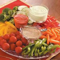 It's not a party without a veggie tray. Serve with non-fat ranch to keep the whole thing healthy!