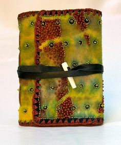 Chad Alice Hagen - hand felted resist dyed book cover