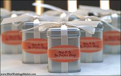 Great idea for wedding favors