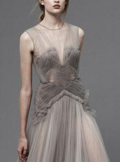 coutur, fashion details, resort 2013, soft colors, beauti cloth, gown, fashion fabrics tulle, grey dresses, jmendel resort