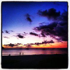 Sunset at Hanalei Bay, Kauai.