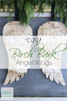 DIY Birch Bark Angel