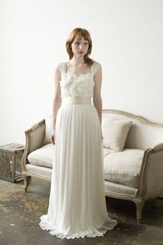 Oysters & pearls wedding dress by englishdept