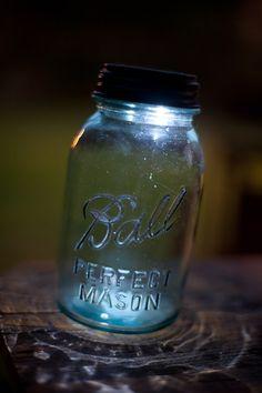 Solar Powered Mason Jar Lights - awesome idea for patio lighting
