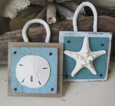 Set of 2 Beach Christmas Ornaments of a Starfish by ProjectCottage, $17.95 #coastal christmas #beach christmas #beach ornaments #coastal ornaments #nautical ornaments #ornaments