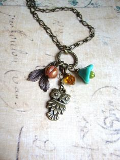 Owl on the Prowl. Owl Necklace. Woodland by DesignsbyJocelyn