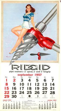 RIDGID Calendar: September 1957