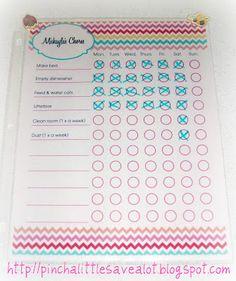 Free Printable: Kids' Chore Charts