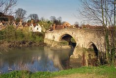 Aylesford, Kent  Crossing the River Medway, Aylesford's old bridge dates from the 14th Century.