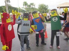 Justice League Lego costumes tutorial