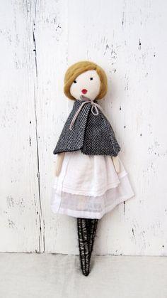 Cloth doll Rag doll handmade retro one of a by lespetitesmainsS,