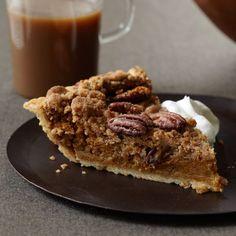 Bourbon Pumpkin Pie with Pecan Streusel // More Delicious Pumpkin Desserts: http://www.foodandwine.com/slideshows/thanksgiving-pumpkin-desserts #foodandwine
