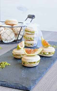 Figs and Cheese Macarons