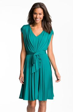 Suzi Chin for Maggy Boutique Pleated V-Neck Jersey Dress available at #Nordstrom