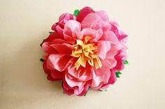 beyond adorable tissue paper flower tutorial tissu paper, flower crafts, tissue paper flowers, pepper, papers, flower tutorial, tissue flowers, may flowers, april showers