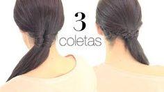 Peinados fáciles para cada día  Coletas con trenzas, via YouTube.