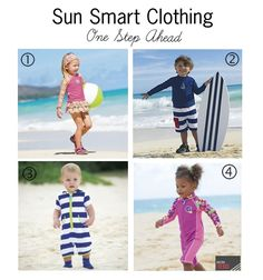 "Gear Girl: Sun Smart Clothing for the Family.  ""Sunscreen is important, but you can add an extra layer of SPF protection for you and your kids with these sun smart clothing options that are constructed out of fabric with built-in SPF – note that on fabric it's called UPF (Ultraviolet Protection Factor). Check out some of our favorite UPF looks from One Step Ahead..."""