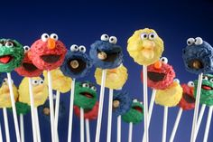 seriously cute sesame street cake pop party!