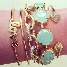 Love the bracelets by Stella & Dot in this stack!