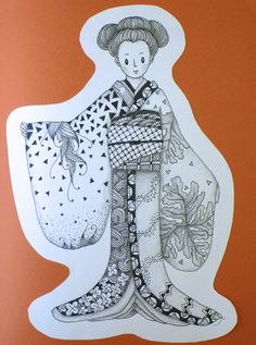 Zentangled kimono: Seminar XI