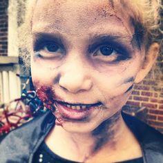 Halloween - Zombie - Makeup - kids- how-to - DIY- Walking Dead - Scary