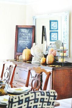 Beautiful fall dining room!!