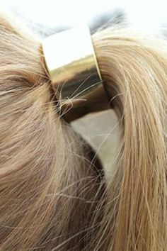 gold ponytail clasp // fab-pin it by carden