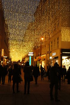 Beautiful Christmas lights in Vienna's Christmas markets!