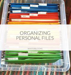 Organizing Personal Files