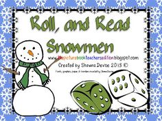 Roll, and Read Snowmen - Pinned by @PediaStaff – Please Visit  ht.ly/63sNt for all our pediatric therapy pins