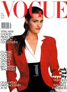 Vogue UK, Aug 1987 Yasmin Le Bon