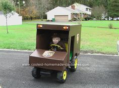 Could we make a UPS truck out of Luke's car for Halloween?