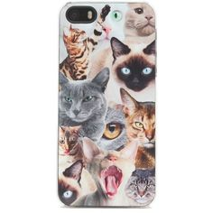 Zero Gravity Cat Riot iPhone 5/5S Case found on Polyvore