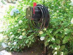garden tool storage & hose hanger