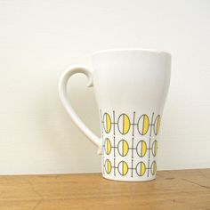 Geometric Mod Vintage Stylecraft Coffee Cup by fifthseason on Etsy coffee cups, coffe cup