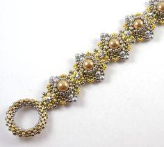 Himalaya Bracelet Gold & Silver * supplies only beading kit - Liisa Turunen Designs
